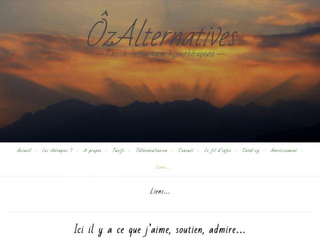 Bonjour, une nouvelle page sur ÔzAlternatives.com, les liens. Aujourd'hui.